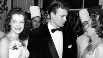 Als «Sissi» wurde sie zum Star: Romy Schneider zusammen mit Karlheinz Böhm und ihrer Mutter 1955 an der Premiere.