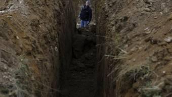 Früher entdecktes Massengrab nahe dem Ort Prijedor (Archiv)
