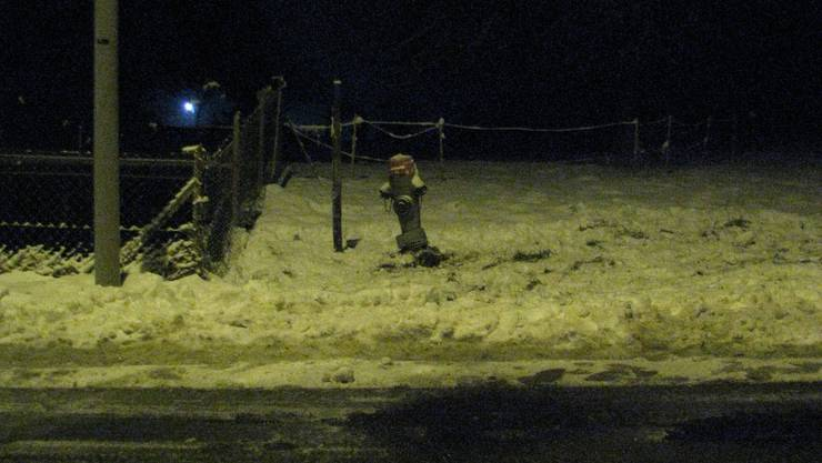 Der beschädigte Hydrant