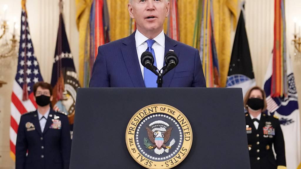 US-Präsident Joe Biden wird am Vierergipfel USA, Japan, Indien, Australien teilnehmen. (Archivbild)