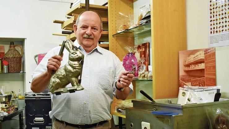 Ruedi Berner plant, sein Schoggimuseum zu erhalten.