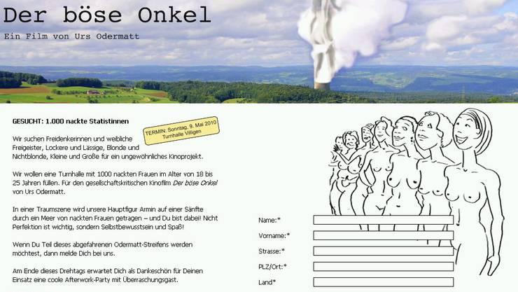 Auf der Internetseite www.derböseonkel.ch können sich interessierte Frauen anmelden.