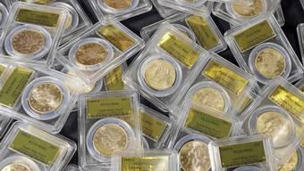 Goldschatz: Diese Münzen fand ein US-Paar im Garten vergraben