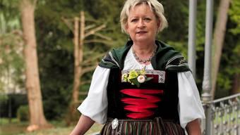 Bloss keinen «Knopf» tanzen: Die Sissacher Trachtenfrau Gabriella Schwald.