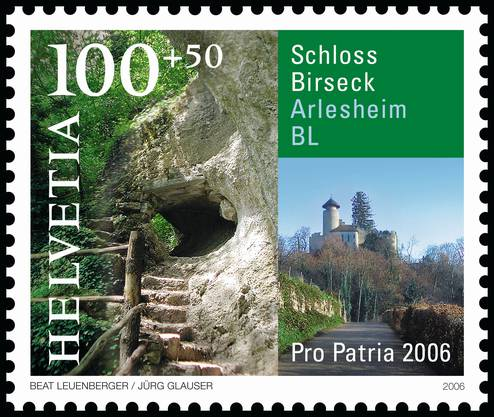2006 gab es eine Sondermarke von Pro Patria mit dem Schloss Birseck in Arlesheim.