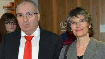 Die SP ist enttäuscht: Das Kandidaten-Duo Daniel Münger (links) und Regula Nebiker kann den Sitz in der Regierung nicht verteidigen.