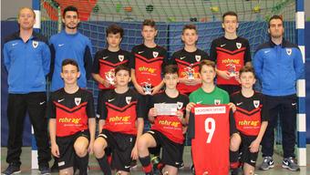 Die C1-Junioren des FC Aarau spielten für ihr ermordetes Team-Mitglied Davin Schauer. Er trug die Nummer 9 auf seinem Trikot.