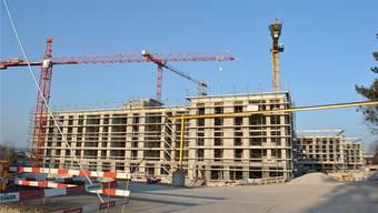 Die Bauarbeiten beim Salmenpark schreiten zügig voran.NBO