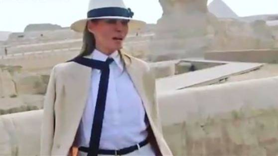 Melania Trumps Outfit sorgt für viel Gelächter auf Twitter