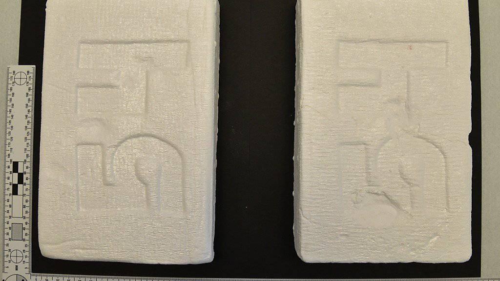 Dergestalt kann Kokain daherkommen: Luzerner Polizei beschlagnahmt über zwei Kilogramm des Rauschgiftes. (Bild Luzerner Polizei)