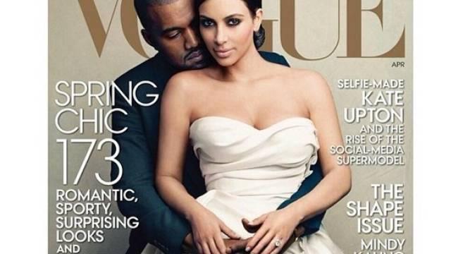 """Kim Kardashian und Kanye West zieren das """"Vogue""""-Cover (Screenshot)"""