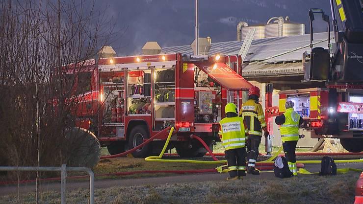 Über 65 Feuerwehrleute waren vor Ort.