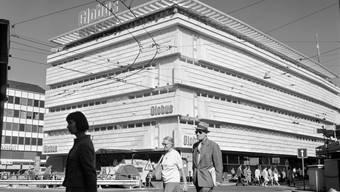 Der Neubau des Warenhauses Globus an der Löwenstrasse in Zürich.
