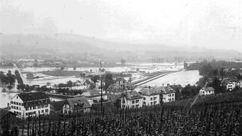 Blick aufs Limmattal von Höngg ausum 1910 (ZVG)