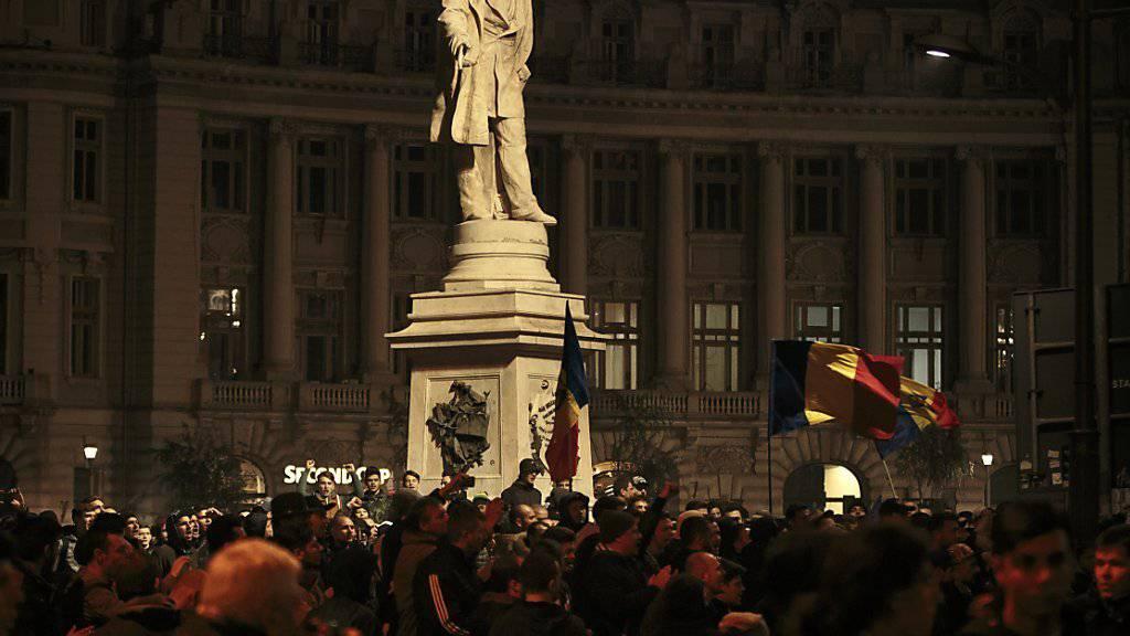 Protest in Bukarest: Rumänien wird seit Tagen von Demonstrationen geprägt.