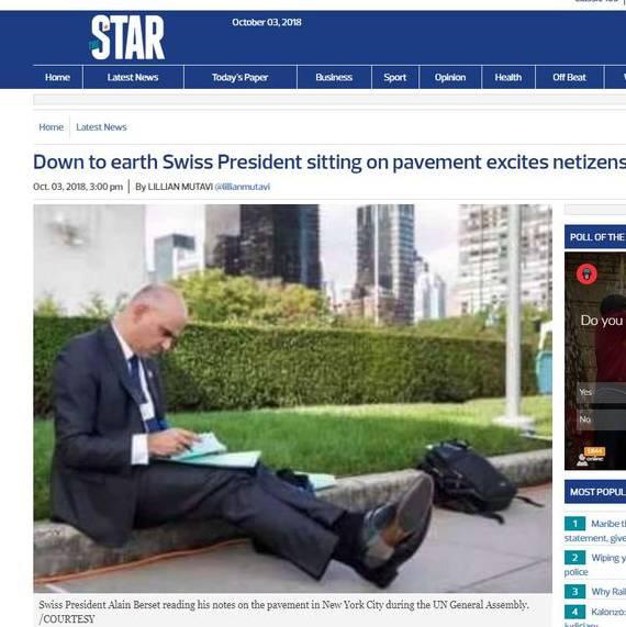 Viral Fake News Screenshot Montage: Warum Dieses Foto Von Alain Berset In Afrika Viral Geht