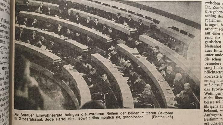 Bericht aus dem AT über die erste Sitzung des Einwohnerrats Aarau.