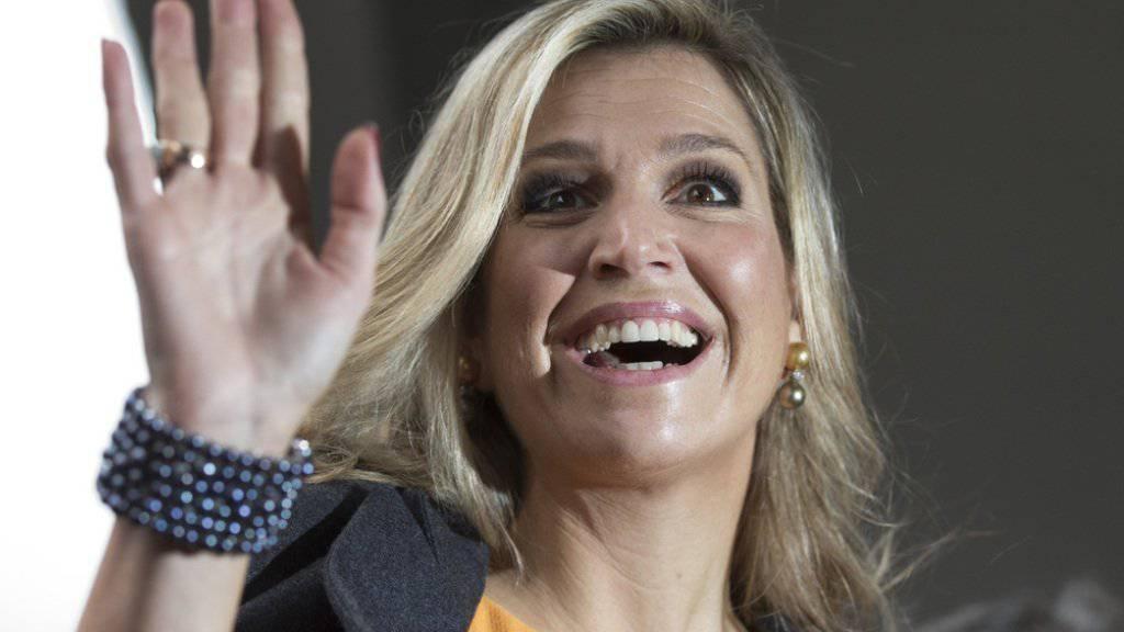 Es geht ihr besser: Die niederländische Königin Máxima (hier bei ihrer Ankunft an der internationalen Konferenz über Gewalt gegen Frauen) litt an einer Nierenbeckenentzündung.