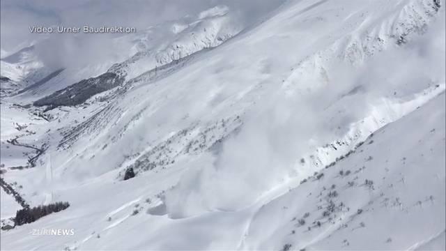 Region Gotthard: Lawinengefahr und gesperrte Strassen