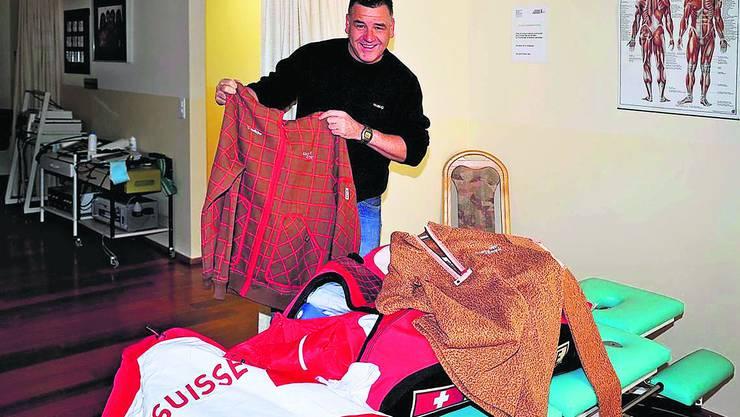 Bob-Physiotherapeut Heinz Kurth ist ausgerüstet und für das Unternehmen Olympische Spiele Vancouver 2010 vorbereitet. Foto: msu