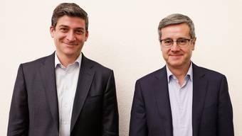 Wurden nominiert als Stadtratskandidaten (von links): David Plüss und Benvenuto Savoldelli.
