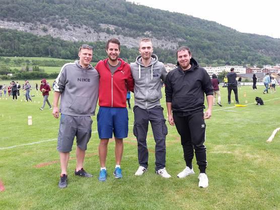 Die Organisatoren: Kevin Bickel, Michel Fux, Sebastian Affolter und Nico Sidler (v.l.)