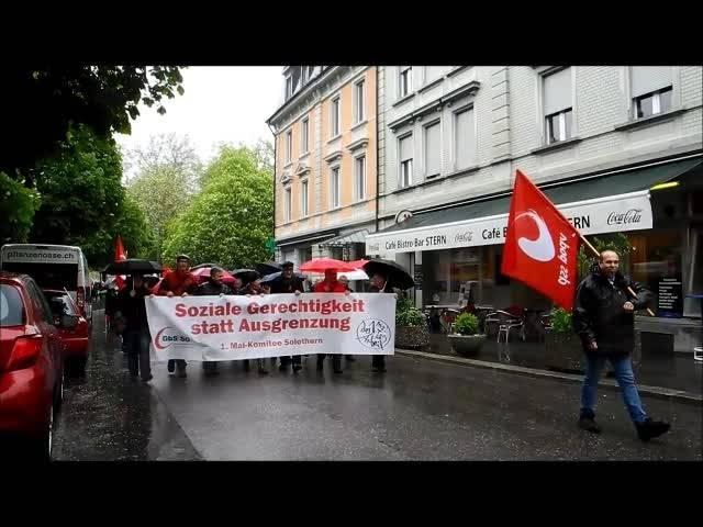 Umzug zum Tag der Arbeit 2015 in Solothurn