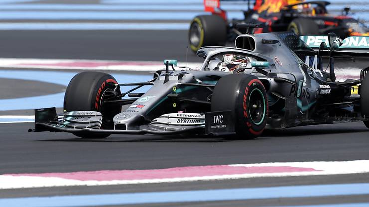 Mercedes driver Lewis Hamilton of Britain steers his car during the first free practice at the Paul Ricard racetrack in Le Castellet, southern France, Friday, June 21, 2019. The French Formula One Grand Prix will be held on Sunday. (AP Photo/Claude Paris)