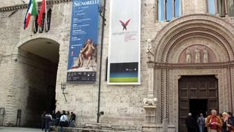 Galleria Nazionale dell'Umbria mit der Sgnorelli-Ausstellung.