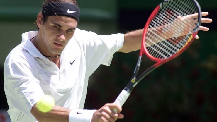 Roger Federer als 18-Jähriger bei den Australian Open 2000.