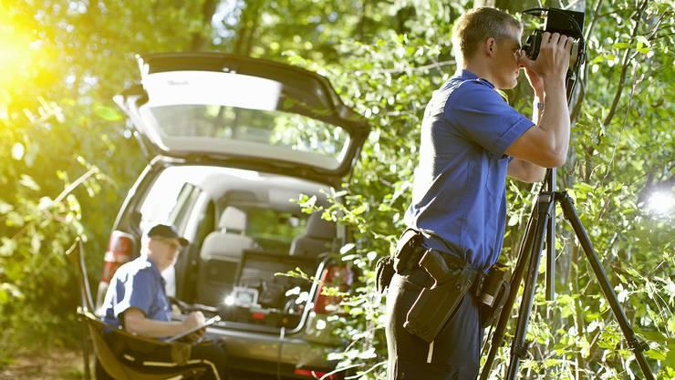 Die Kantonspolizei Aargau erwischt in Eiken mehrere zu schnell fahrende Autofahrer. (Symbolbild)