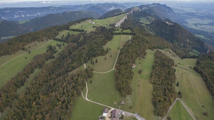 Blick auf die Grenchenberge von Westen her.