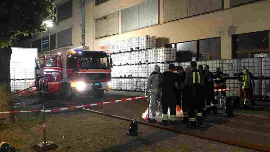 Feuerwehreinsatz wegen ausgetretenen Dämpfen