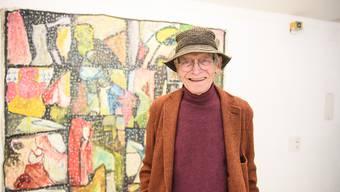 Gian Töndury anlässlich der gestrigen Vernissage im Künstlerhaus.