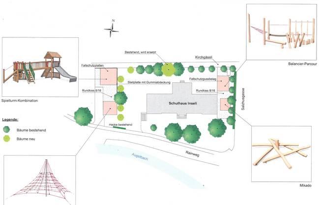 Umgestaltung des Pausenplatzes beim Schulhaus Inseli in Balsthal