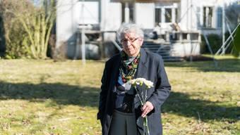 Knapp 78 Jahre ist es her, seit Heidi Wehrli vor diesem Haus an der Westallee in Aarau überraschend auf den General traf.Mario Heller