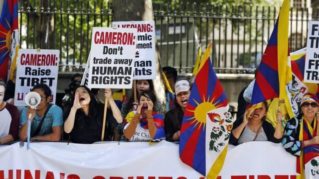 Protest gegen Chinas Tibet-Politik in London