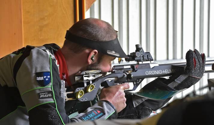 Rafael Bereuter holte sich nach seiner letztjährigen Absenz den Aargauer Dreistellungstitel Gewehr 50 m zurück.