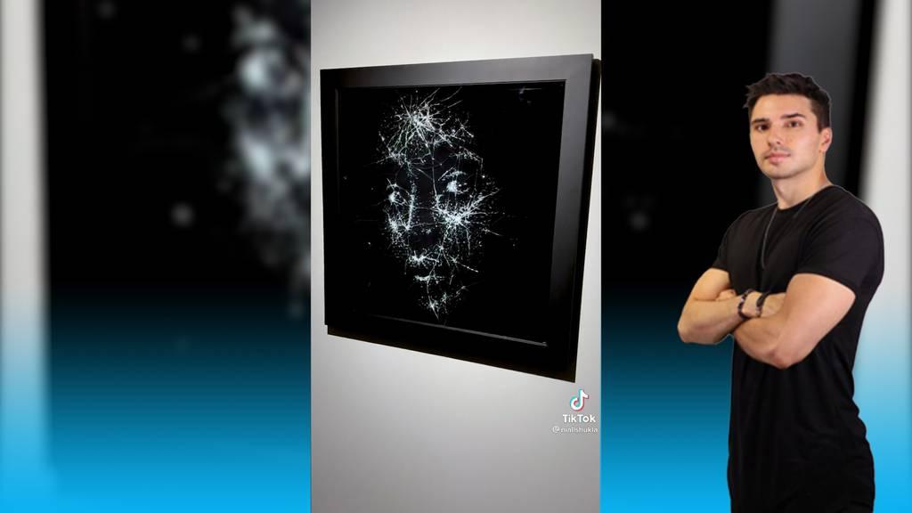 Der Künstler Niall Shukla schafft Portraits aus Glas