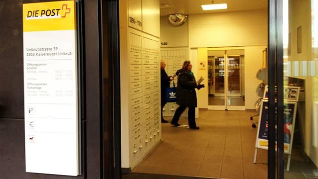 Ab 20. Januar gibt es in Kaiseraugst nur noch diese Poststelle: Kaiseraugst Liebrüti.