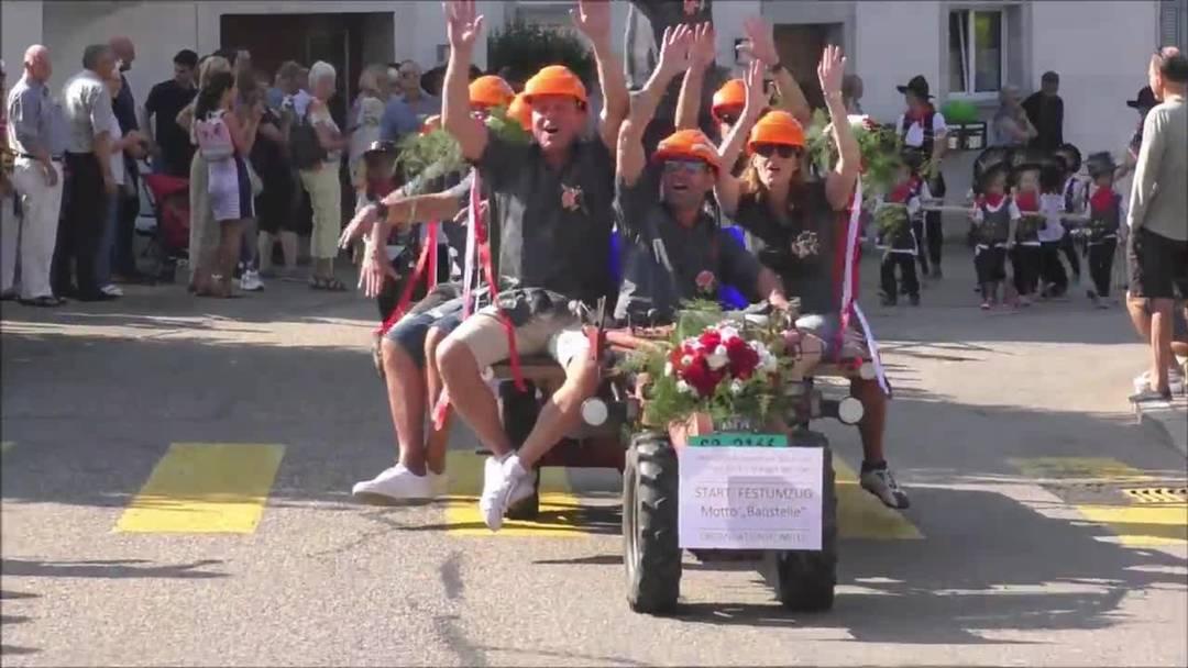 Schulfest Wangen bei Olten 2019 - ein Ausschnitt des Umzugs