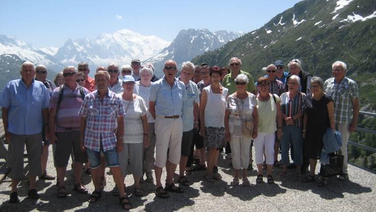 Die Pensionierten der Carrosserie Hess  AG auf ihrem Tagesausflug an den Lac d`Emosson.