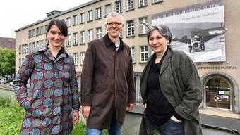 Von links Karin Zuberbühler, Peter Flückiger und Luisa Bertolaccini; wenn der Souverän will, wird das Trio künftig im Oltner Haus der Museen kompakter interdisziplinär wirken können.