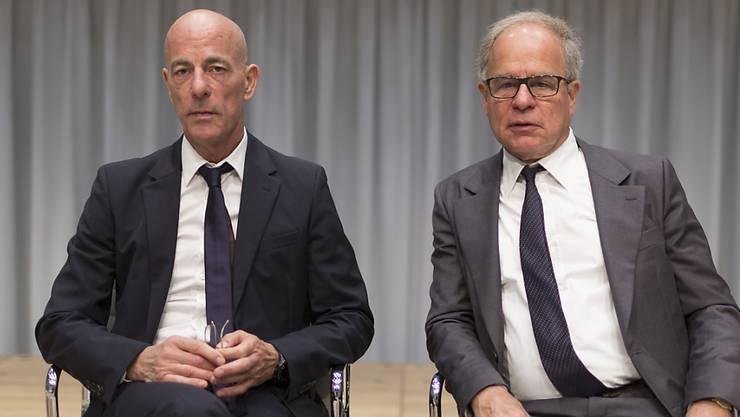 Die Architekten Jacques Herzog (l) und Pierre de Meuron. (Archivbild)