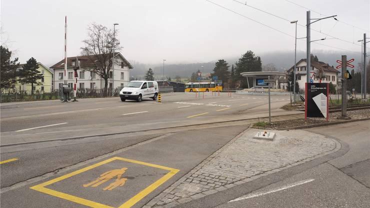 Die Fundamente für die Fussgängerbarrieren beim Bahnübergang Thalbrücke sind bereits sichtbar. Bruno Kissling