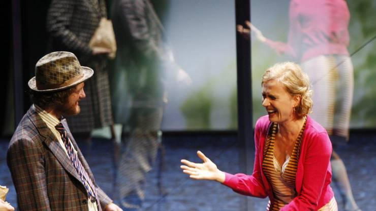 Schauspielerin Friederike Wagner als «Maria», rechts, anlaesslich der Fotoprobe zu «Was ihr wollt».