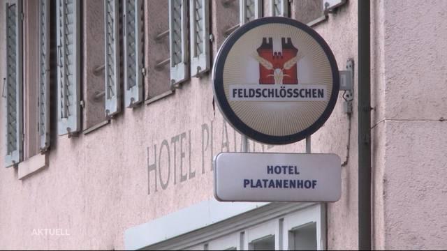 Brand im Fricktaler Hotel Platanenhof