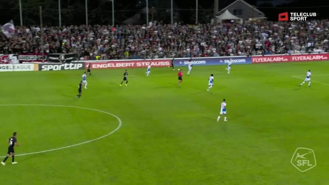 Challenge League, 2019/20, 3. Runde, FC Aarau – GC Zürich, 60. Minute: Schuss von Markus Neumayr.