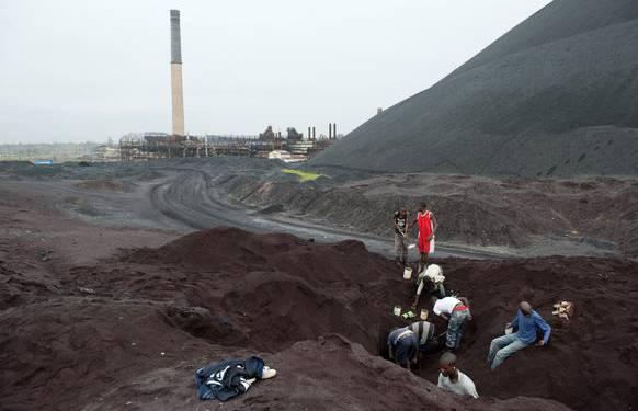 Eine Mine im Kongo