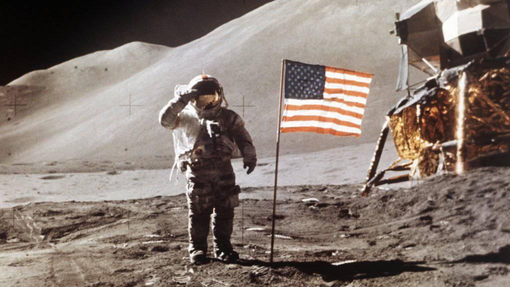 Zuletzt waren Menschen 1972 auf dem Mond gelandet. (Archivbild)